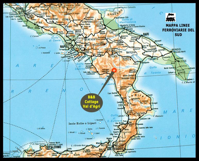 Italia Del Sud Cartina Geografica.Railways Italy Train